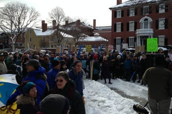 Rally to start the march in Salem