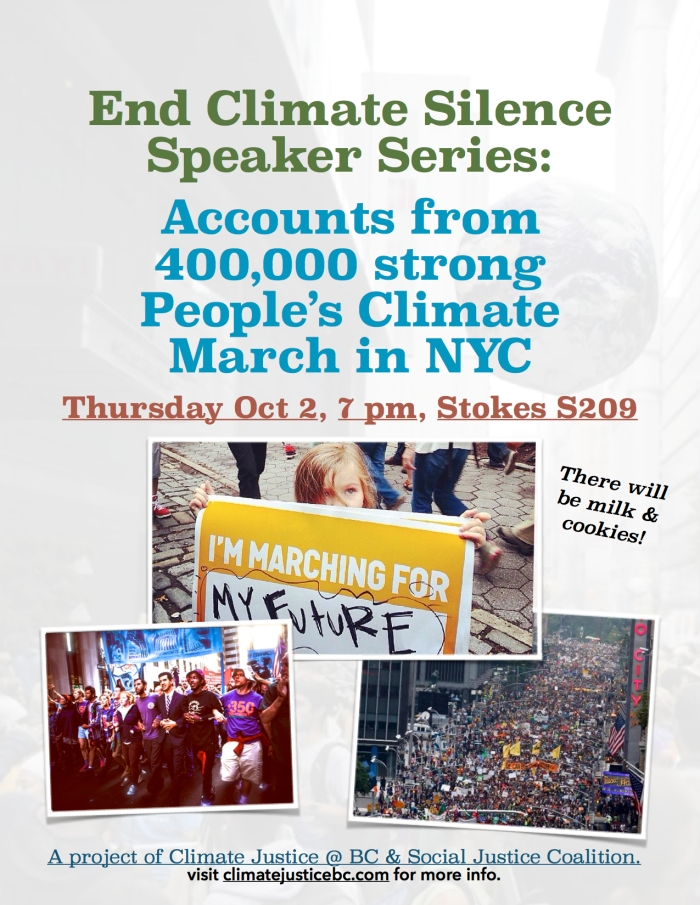 End Climate Silence Speaker Series; Accounts from 400,000 strong People's Climate March in NYC - v5